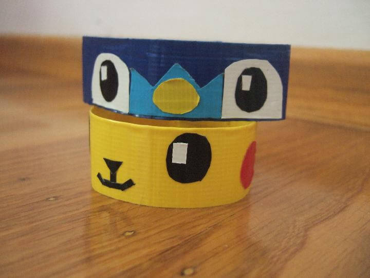 DIY Duct Tape Pikachu Bracelets