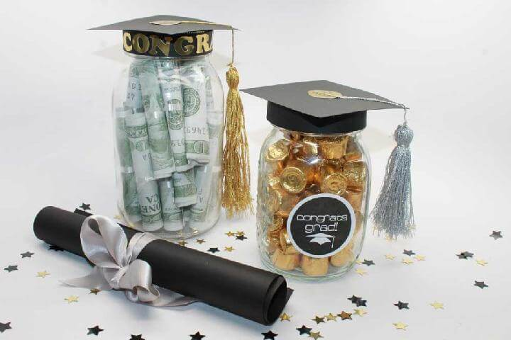 DIY Easy Graduation Party Mason Jar Centerpieces