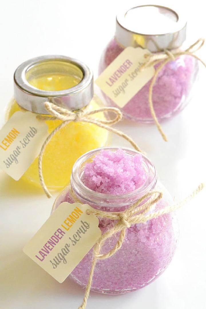 DIY Easy Homemade Lemon Lavender Sugar Scrub