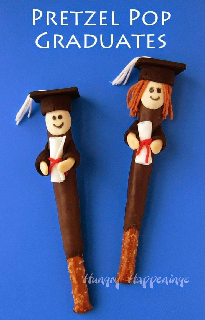 DIY Easy Pretzel Pop Graduates