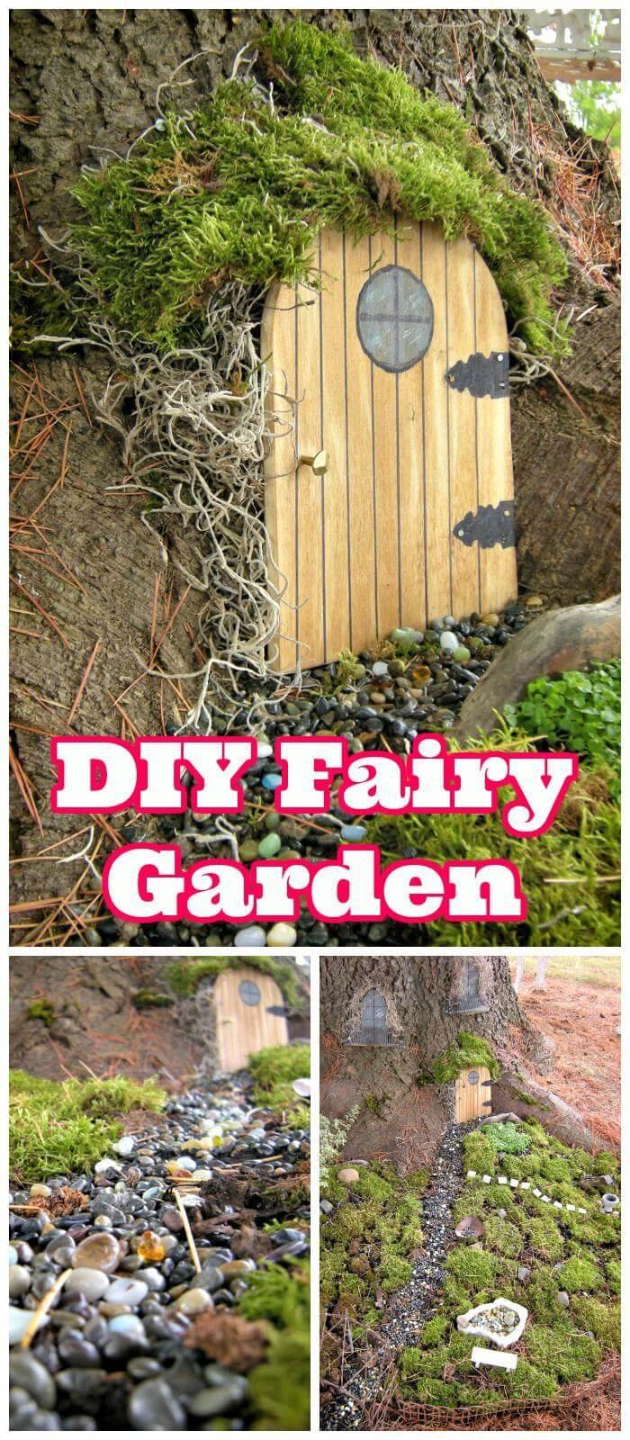 Gnome In Garden: 60 Best DIY Fairy Garden Ideas / Fairy Garden Houses