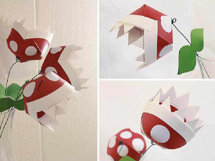 DIY Faux Paper Piranha Plants