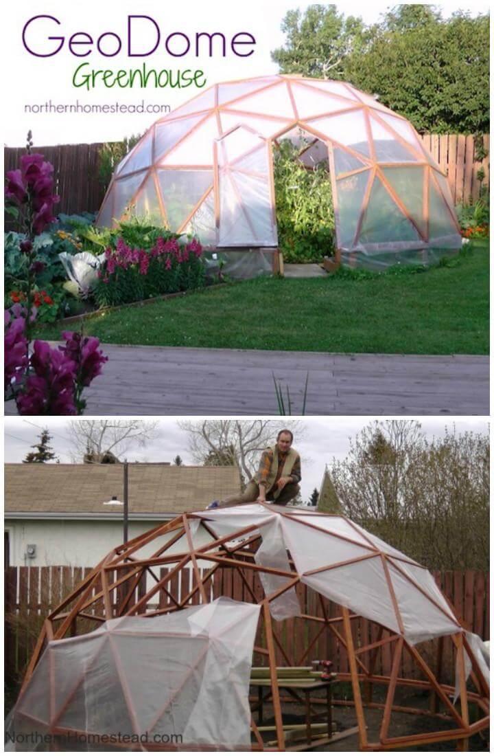 Homemade Geo Dome Greenhouse
