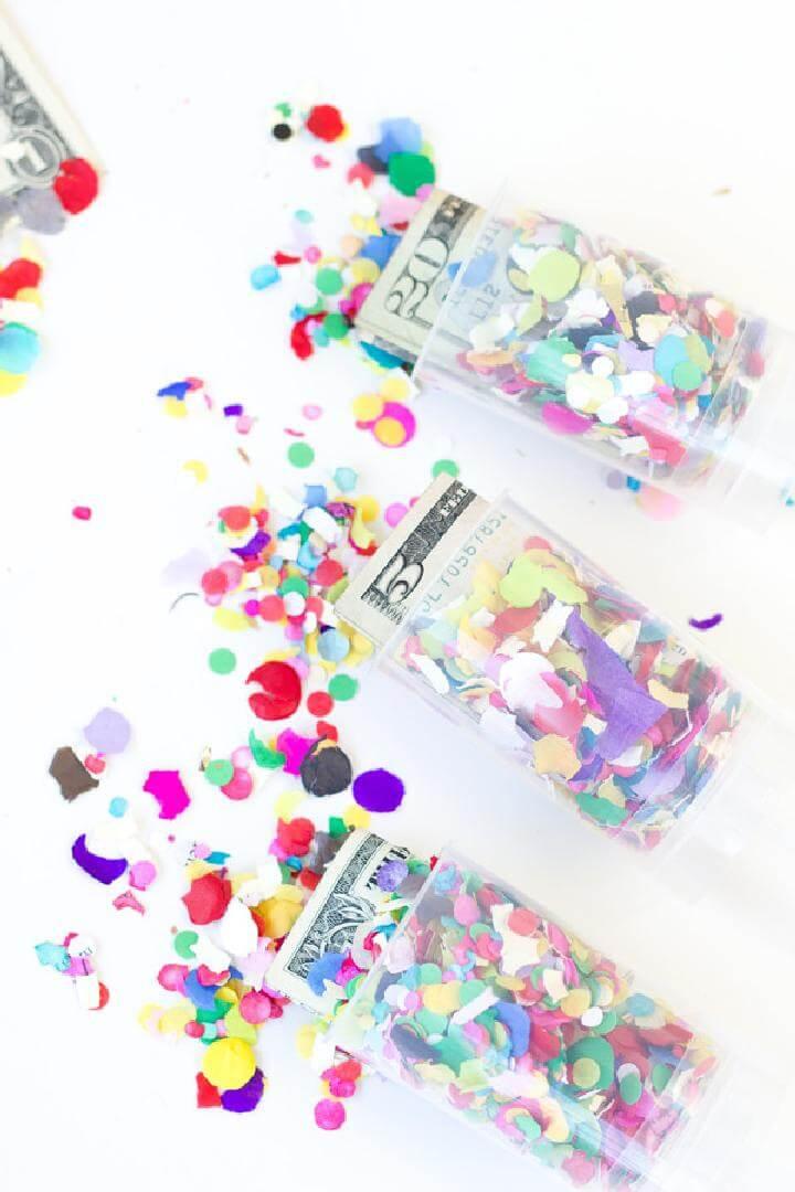 DIY Grad Party Surprise Money Confetti Poppers