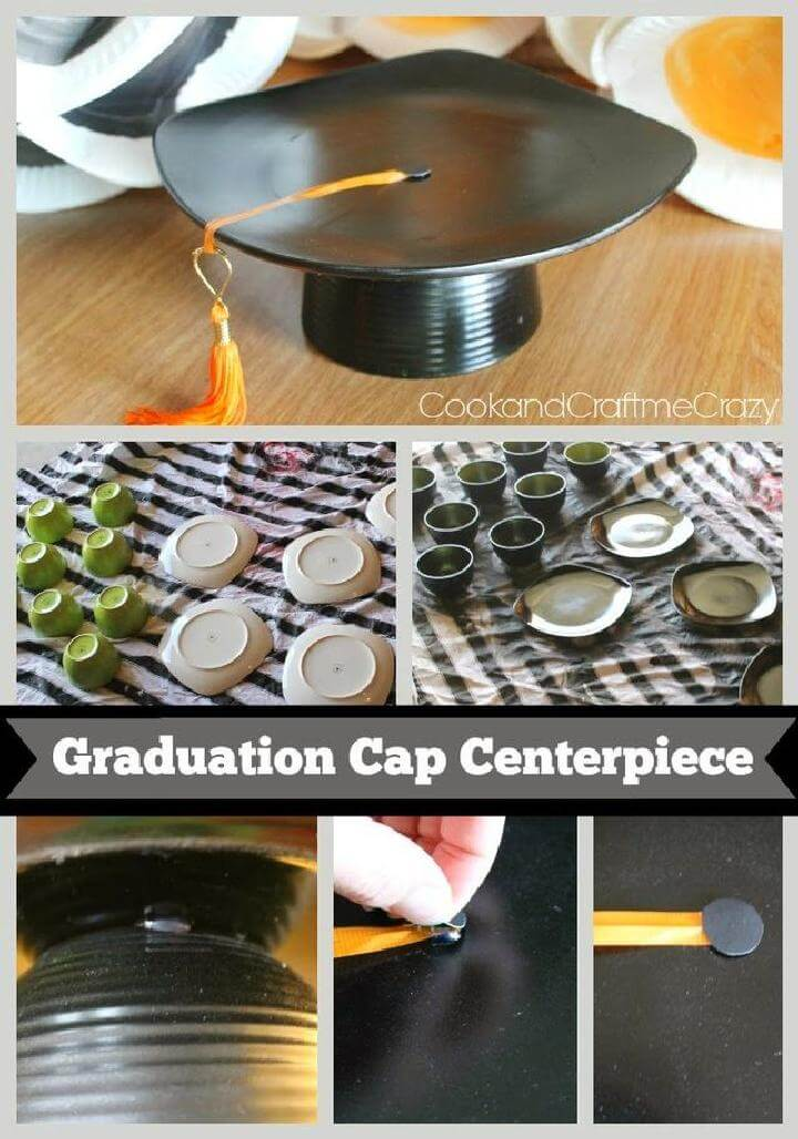 DIY Graduation Cap Centerpiece