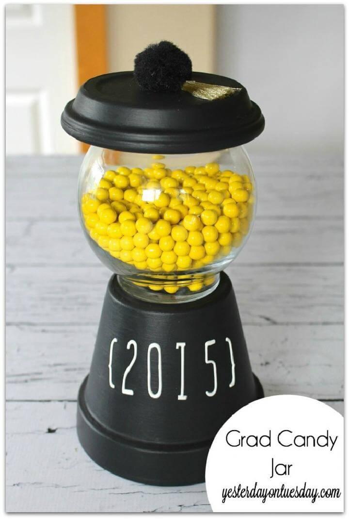 DIY Graduation Party Candy Jar