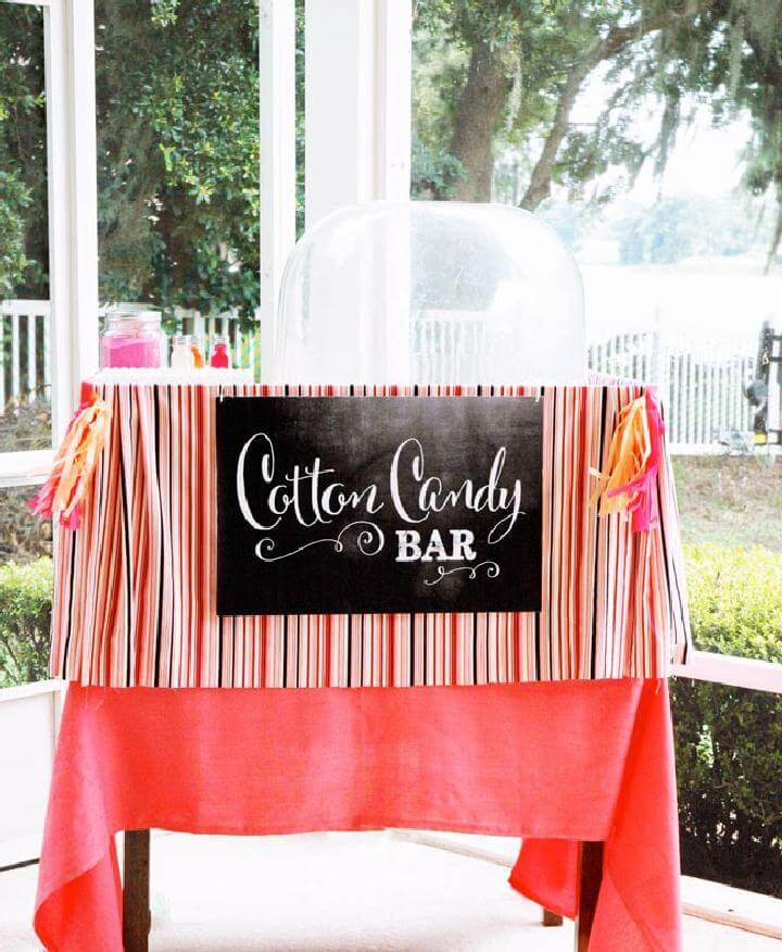 DIY Graduation Party Cute Cotton Candy Bar