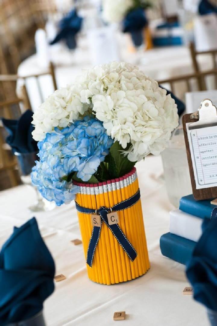 DIY Graduation Party Pencil Vase