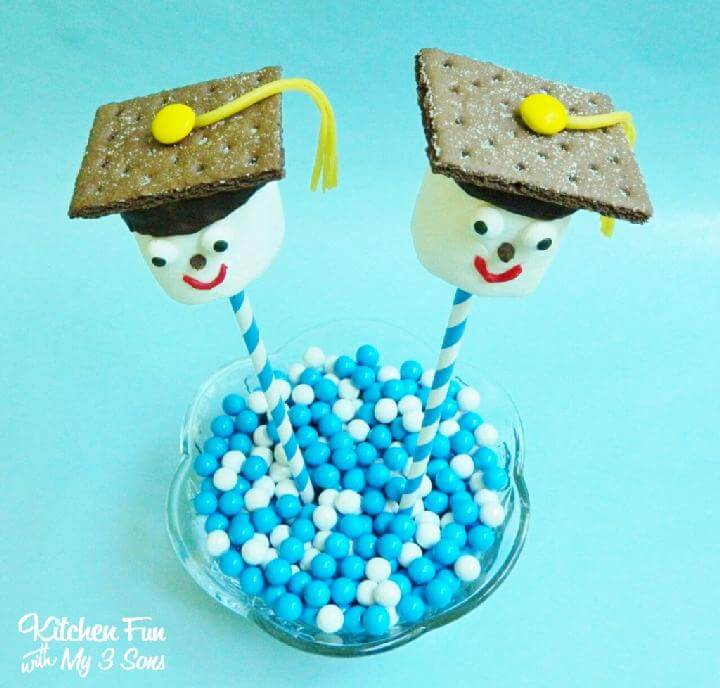 DIY Graduation Party Smores Cookie Pops
