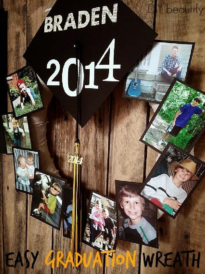 DIY Graduation Party Whole the Year Picture Wreath