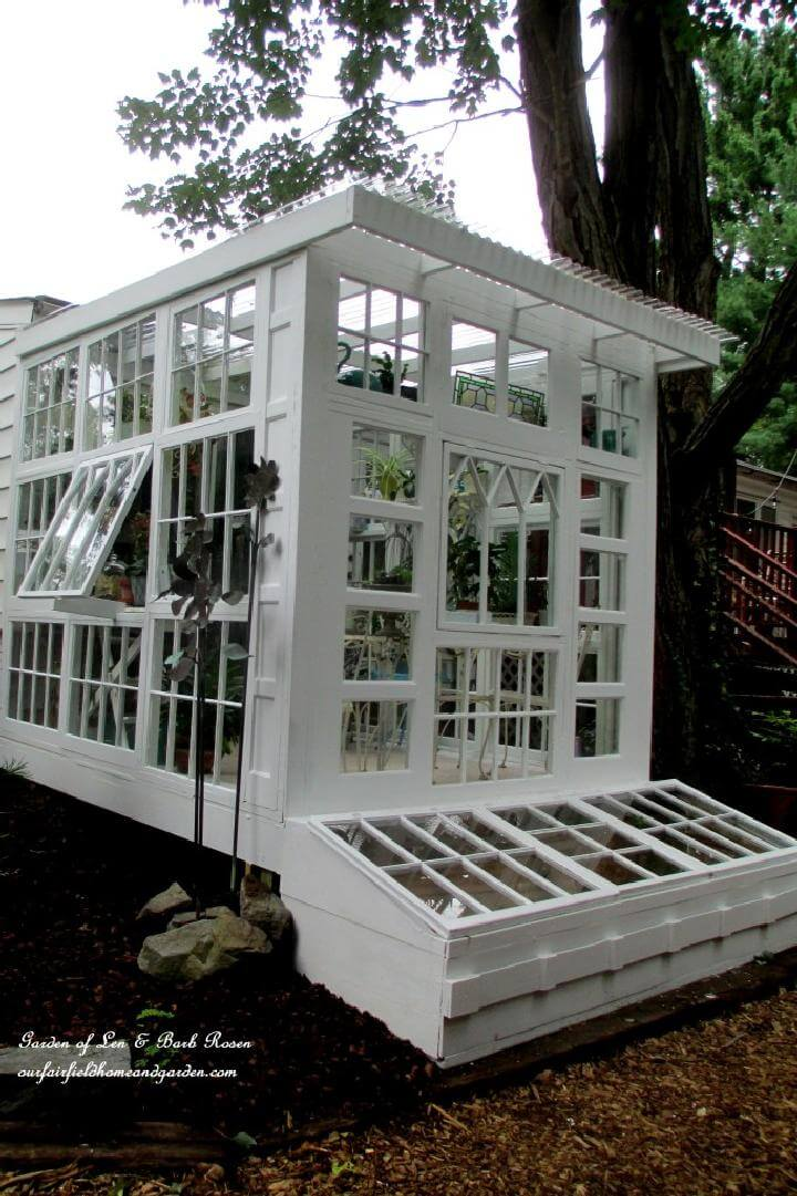 DIY Greenhouse Built From Old Reclaimed Windows