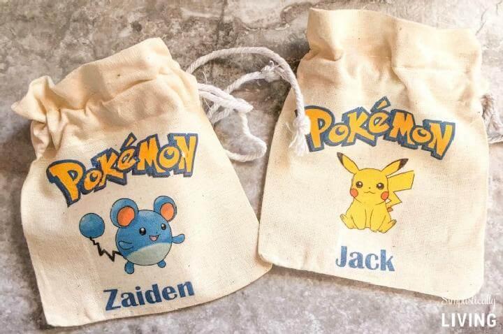 Handmade Pokemon Party Favor Bags