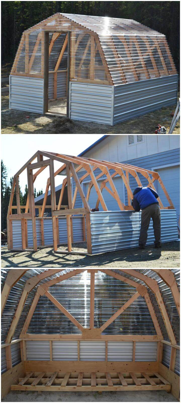 DIY Homemade Barn Greenhouse