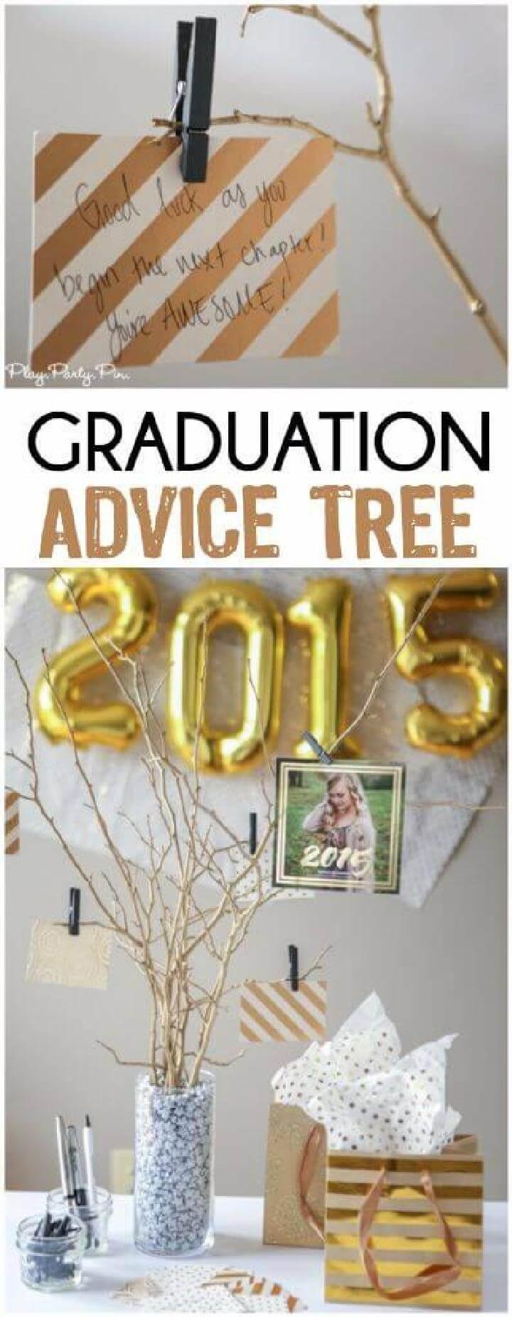 DIY Homemade Graduation Party Advice Tree