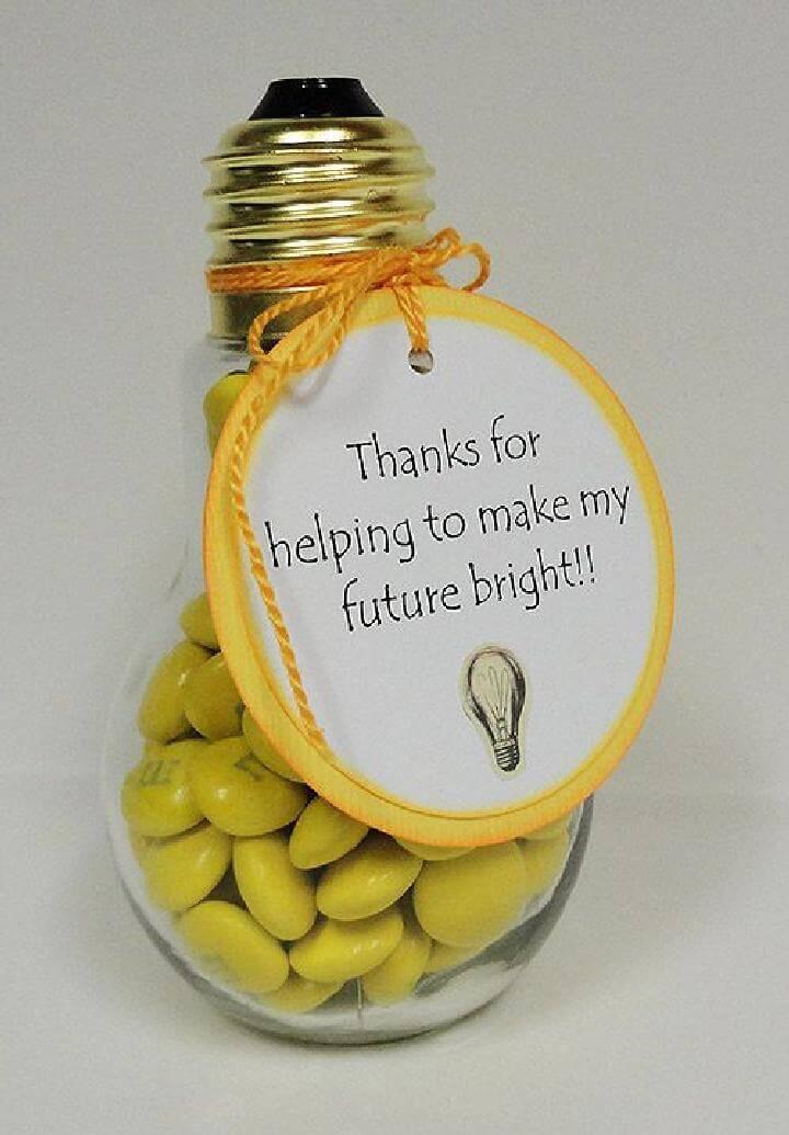DIY Light Bulb Candy Holder Idea