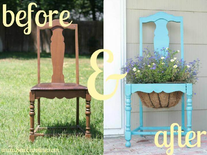 DIY Old Chair Planter
