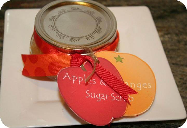 DIY Oranges and Apple Sugar Scrub