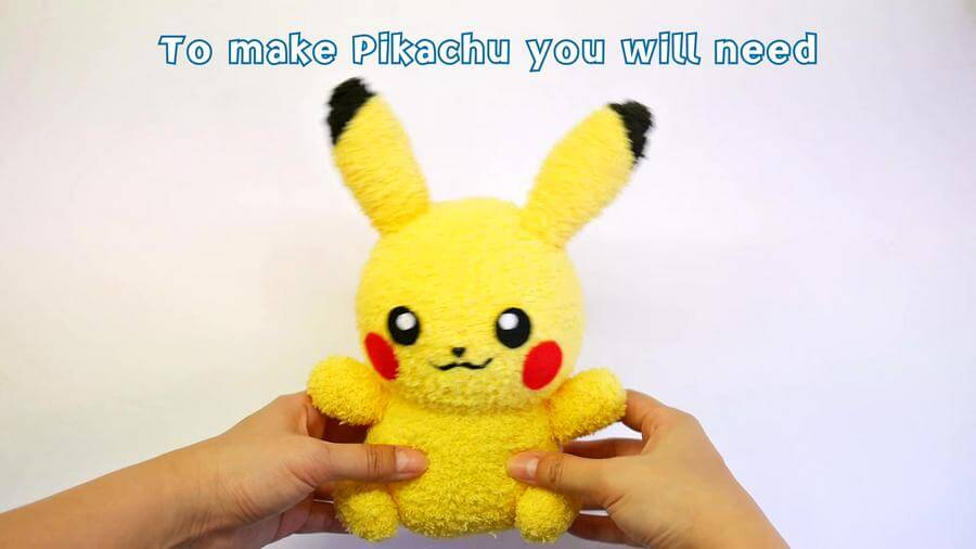 Diy Pikachu Sock Plushie With Free Pattern Diy Pokemon
