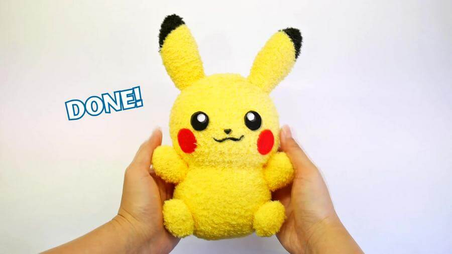 Diy pikachu sock plushie with free pattern diy pokemon for Diy crafts youtube channels