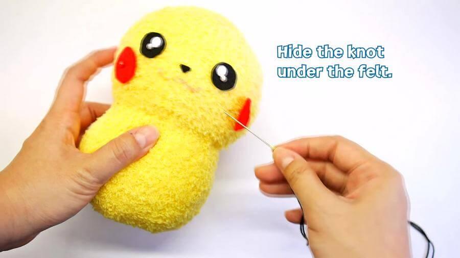 diy pikachu sock plushie   pattern diy pokemon tutorial