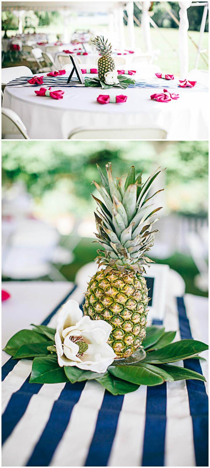 DIY Pineapple Graduation Party Flare or Centerpiece