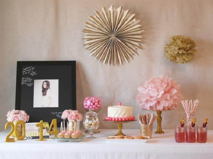 DIY Pink and Gold Grad Party Theme Idea