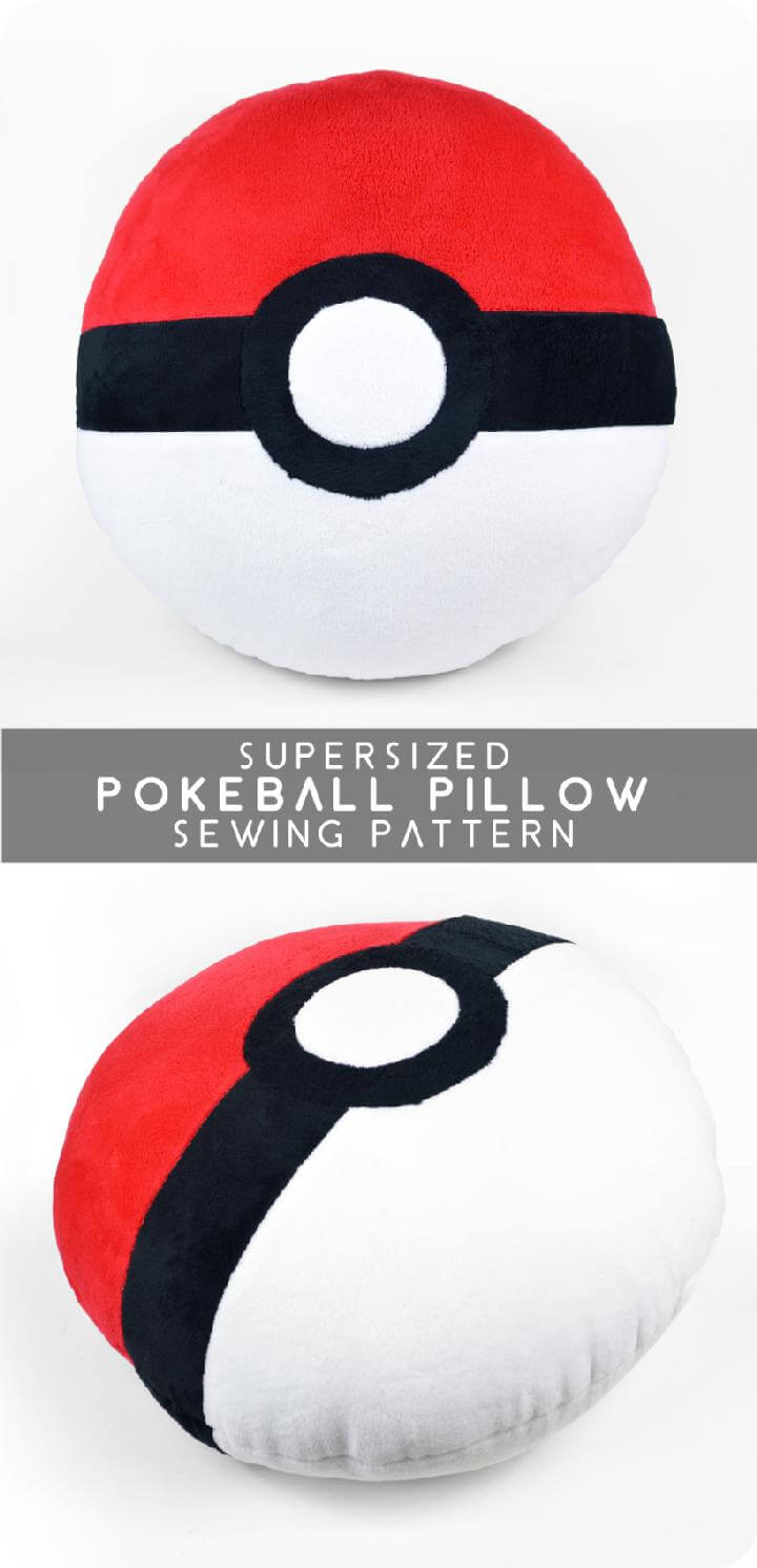 DIY Pokeball Sewing Pillow