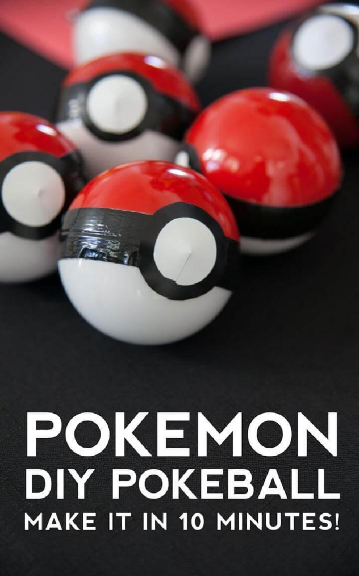 DIY Pokemon Ball Party Favors