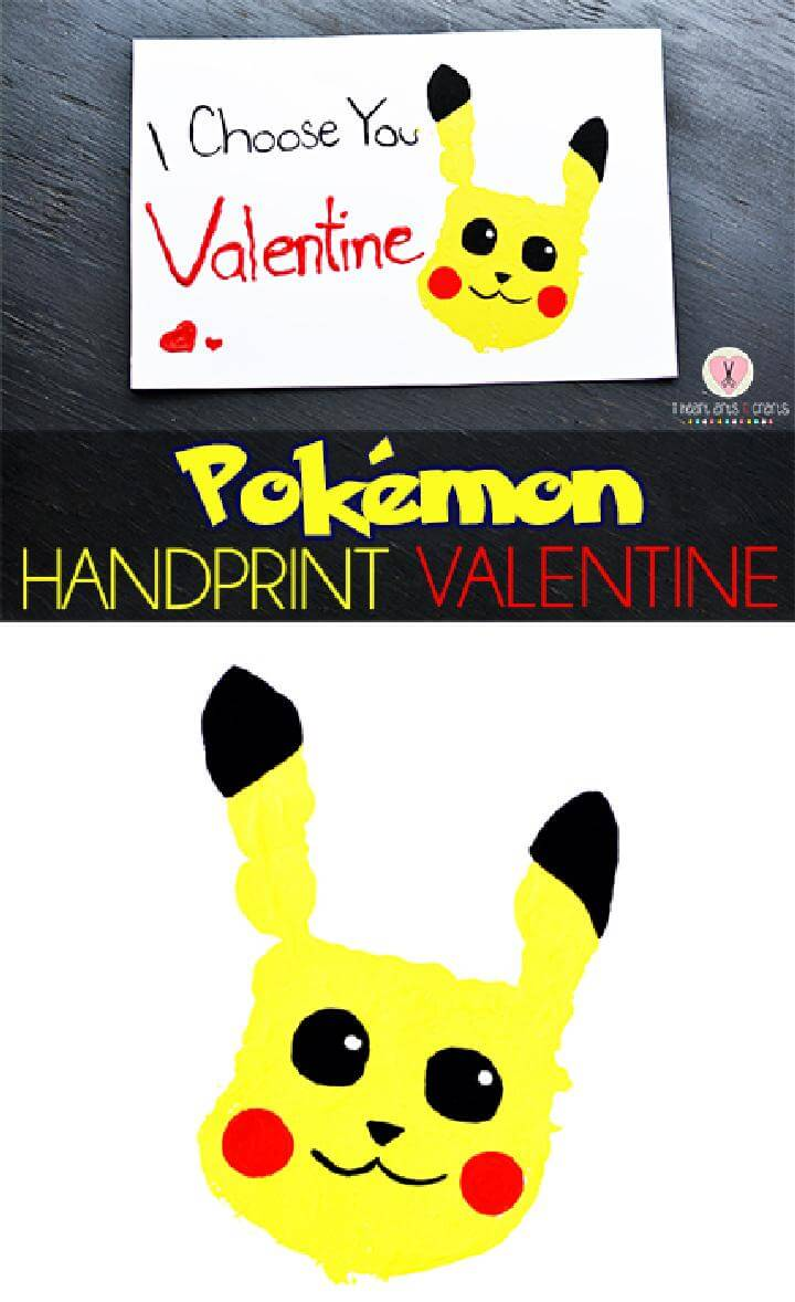 DIY Pokemon Handprint Gift Card
