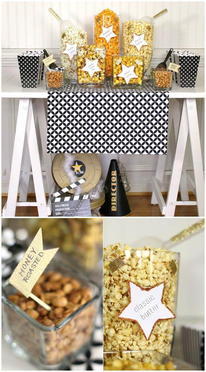 DIY Popcorn Bar for Graduation PartyDIY Popcorn Bar for Graduation Party