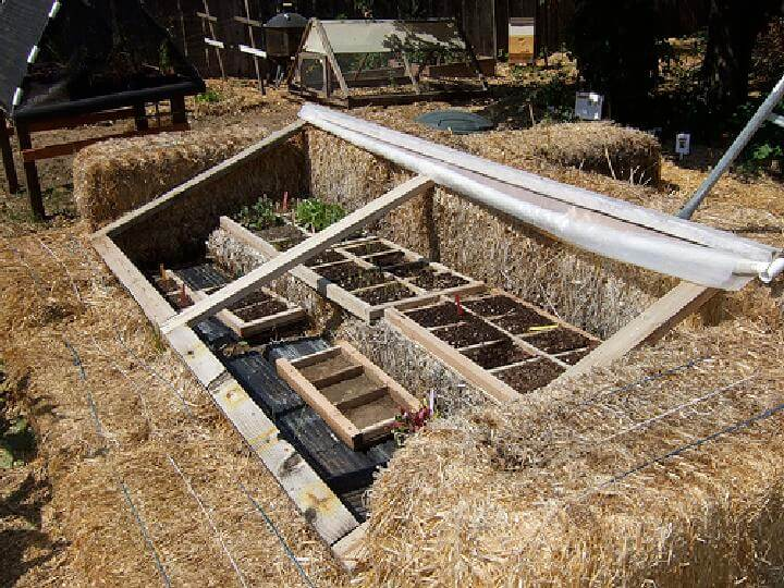 DIY Quick Straw Bale Cold Frame or Greenhouse