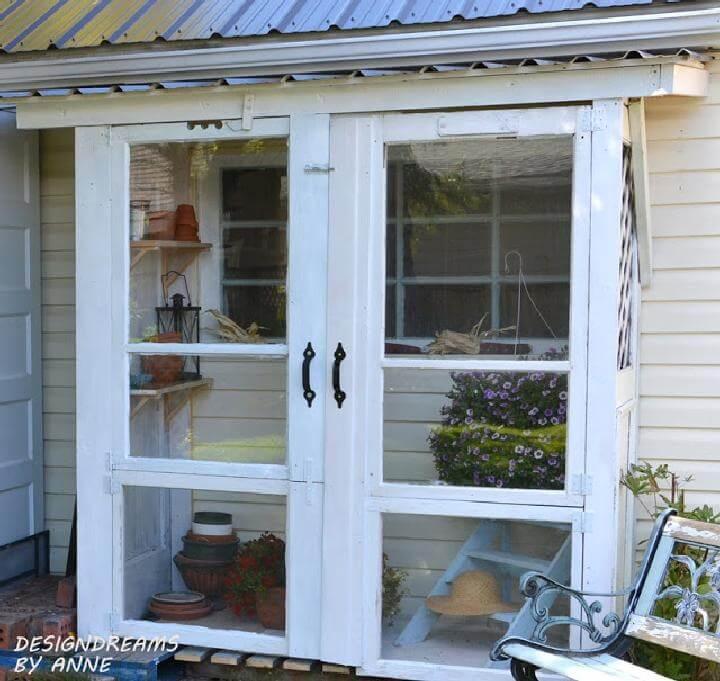 DIY Repurposed Old Door Greenhouse