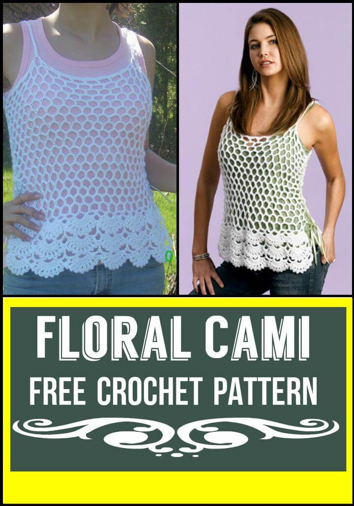 Floral Cami Free Crochet Pattern