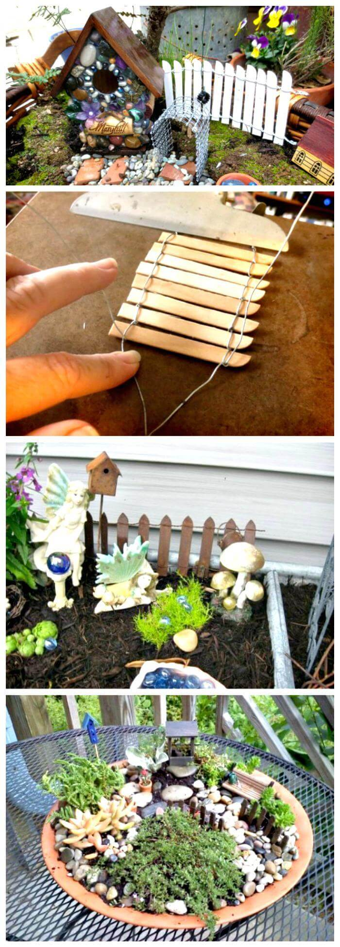 60 best diy fairy garden ideas fairy garden houses for Make your own fence