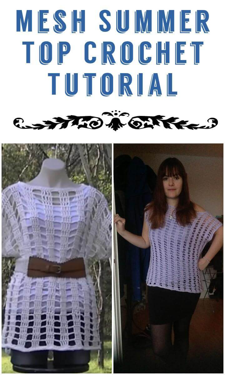 Mesh Summer Top Crochet Tutorial