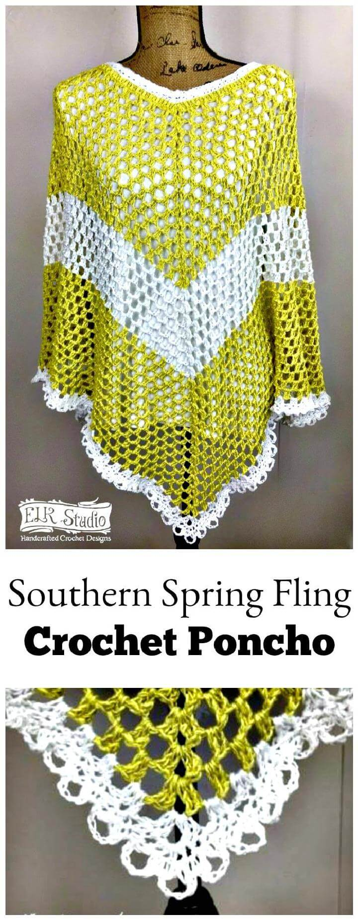 Southern Spring Fling Crochet Poncho