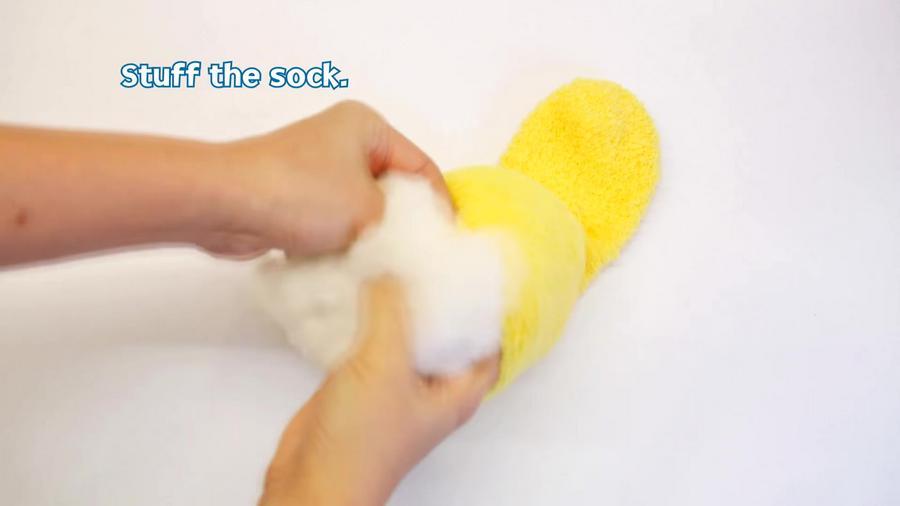 Stuff the sock