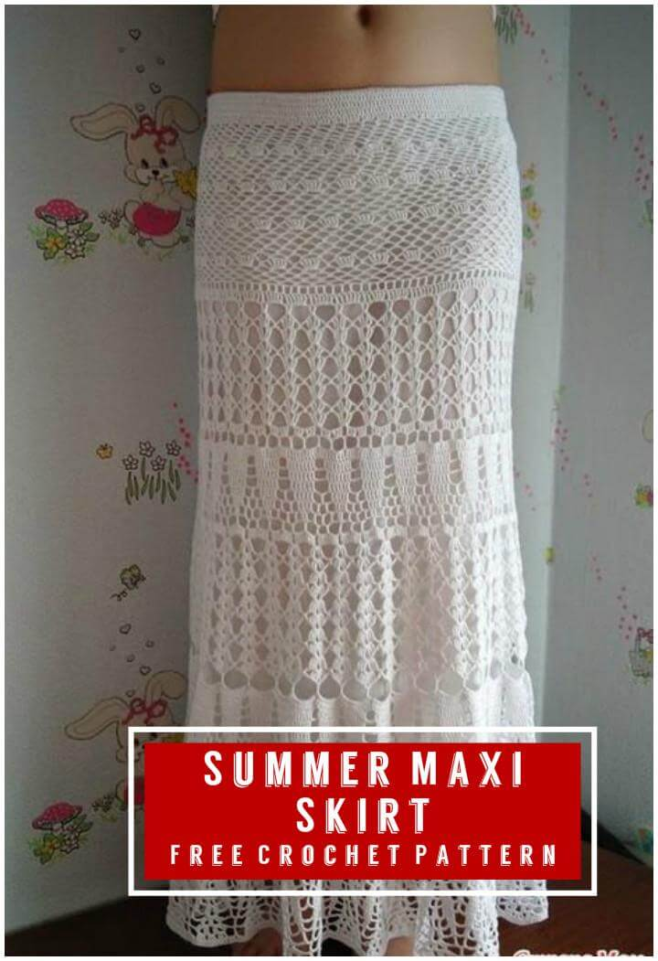 Summer Maxi Skirt Free Crochet Pattern