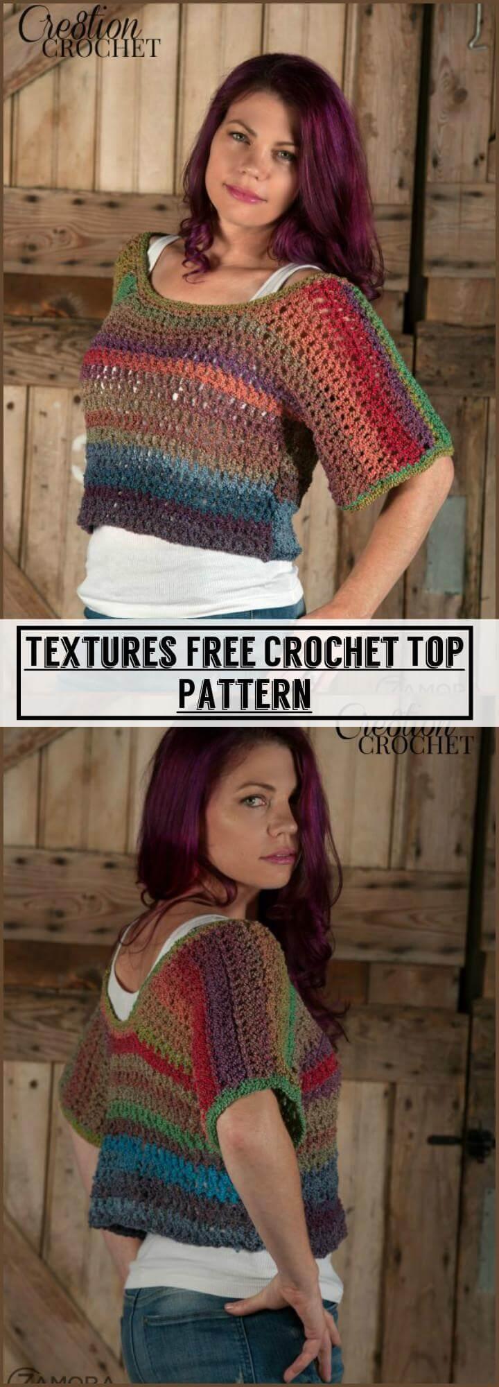 Textures Free Crochet Top Pattern