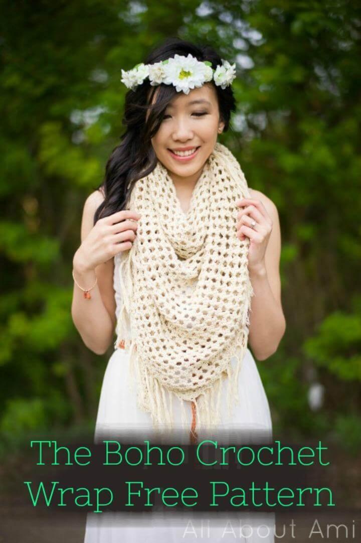 The Boho Crochet Wrap Free Pattern