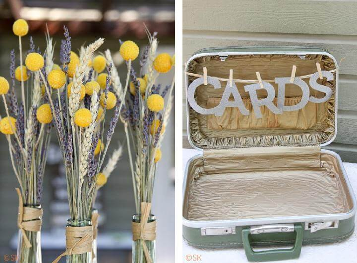 Vintage Cards Suitcase for Graduation Party