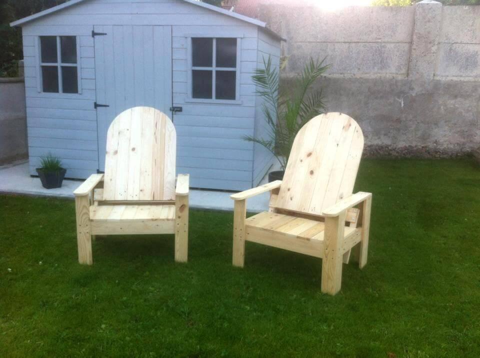 wooden pallet garden chairs