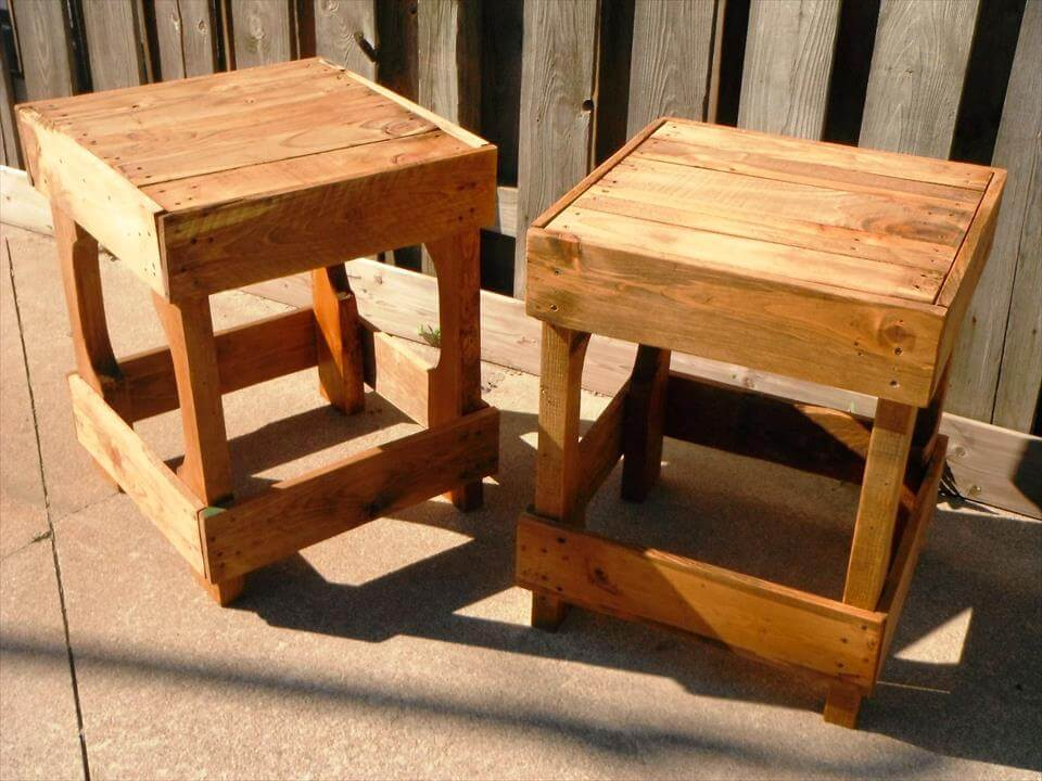 wooden pallet made stools