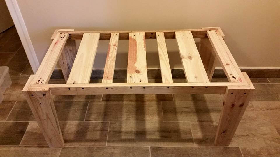 building the base frame of coffee table