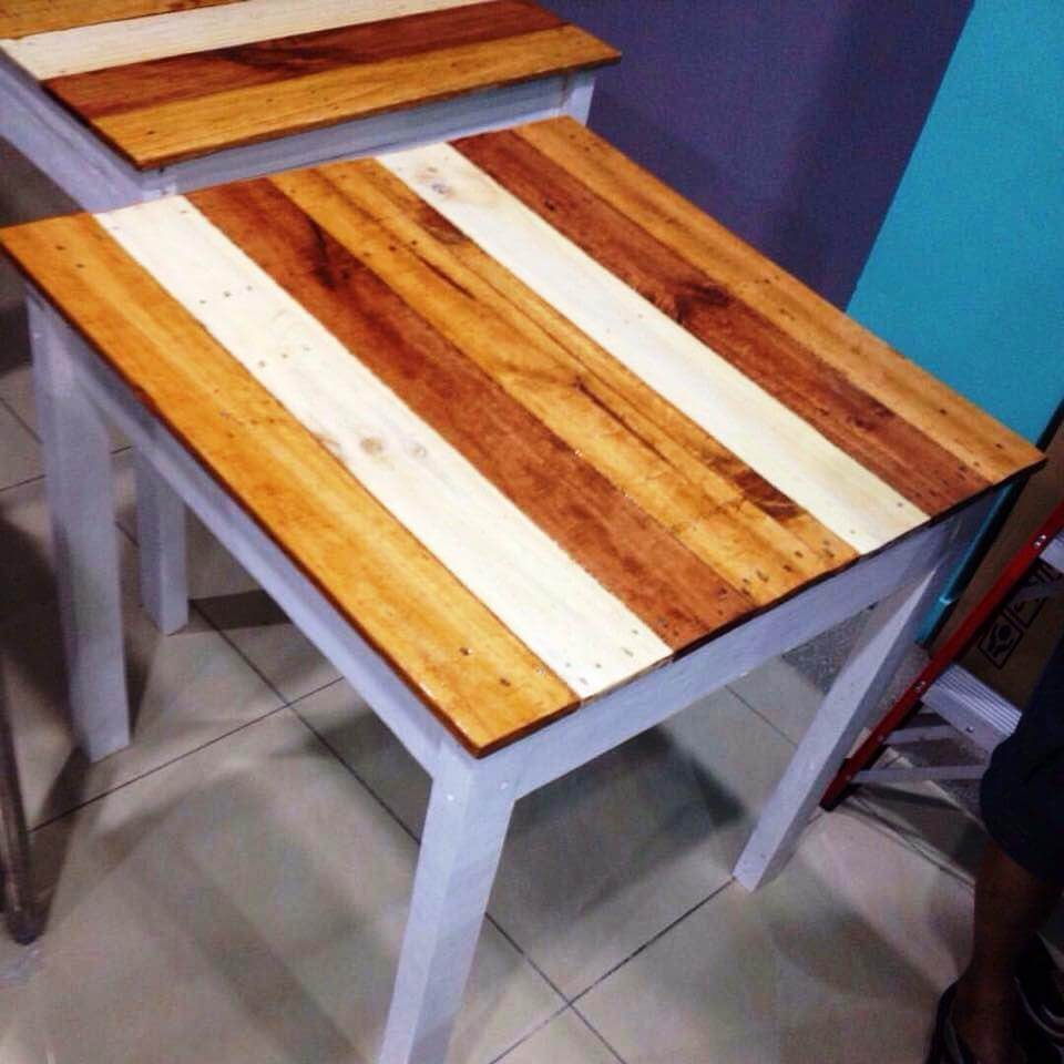upcycled wooden pallet side table or end table