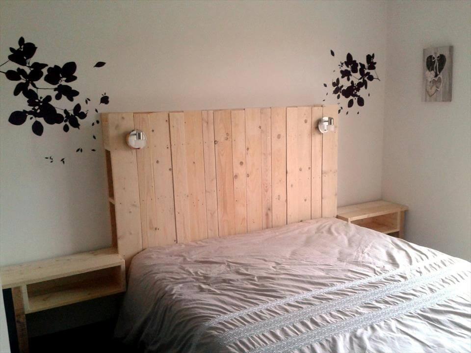 Top 30 pallet ideas to diy furniture for your home page 3 of 3 diy - Tete de lit avec chevet suspendu ...