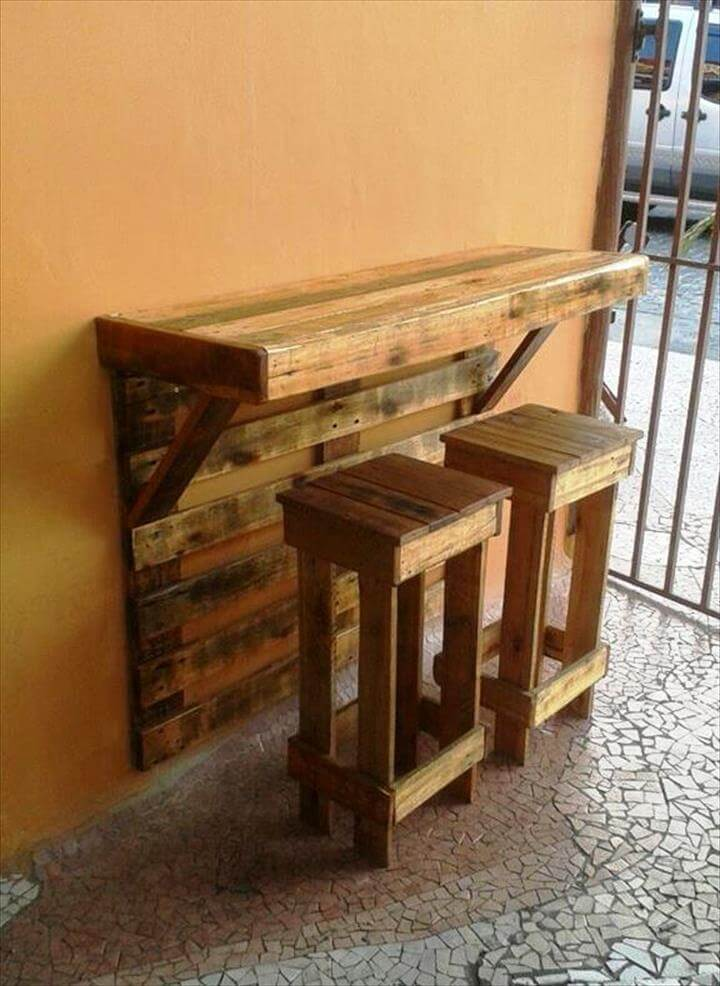 Top 30 pallet ideas to diy furniture for your home diy for Mesas de madera bar