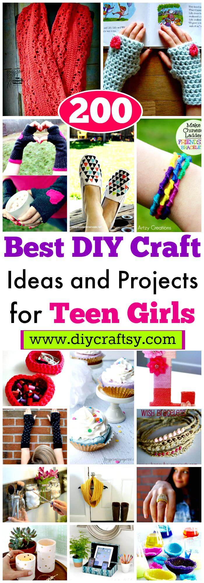 DIY Craft Ideas and Projects for Teen Girls
