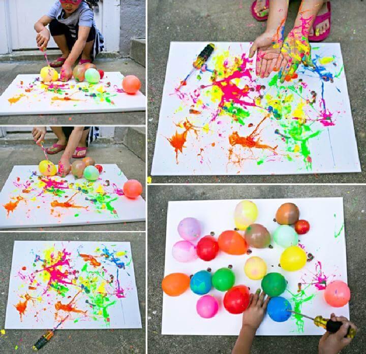 Amazing Balloon Splatter Painting
