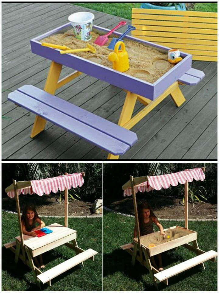 DIY Amazing Picnic Table and Sand Table Combo
